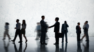 corporate people shaking hands