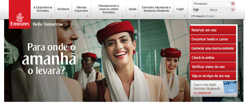 Emirates website