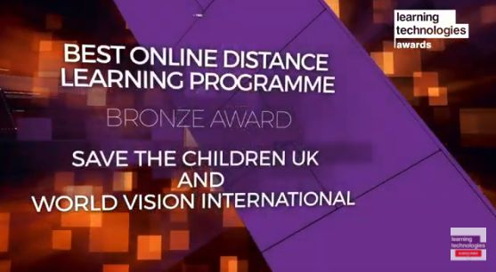 Save The Children e-Learning Award Learning Technologies 2
